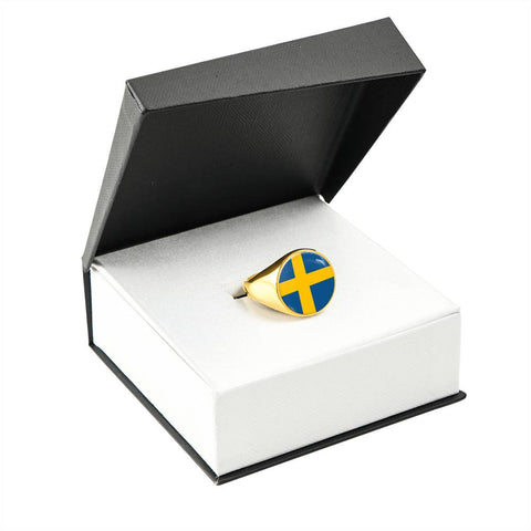 Swedish High Quality Flag Ring - Perfect gift for a Swedes or someone that loves Sweden.