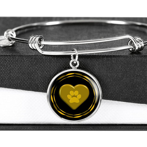 Image of I love pets bangle | Luxury Gold or Silver