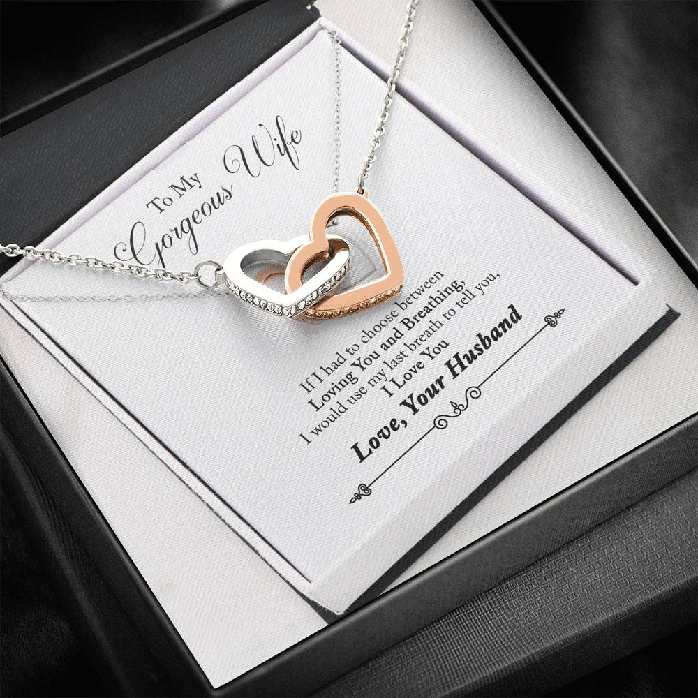 Interlocking Hearts Necklace for My Gorgeous Wife