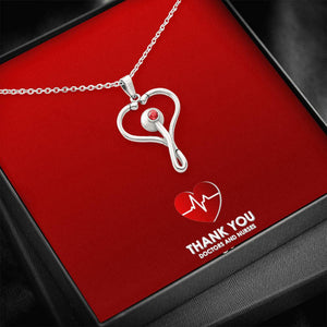 Beautiful Stethoscope Necklace Unique Gift For Nurses, Doctors, Veterinarians