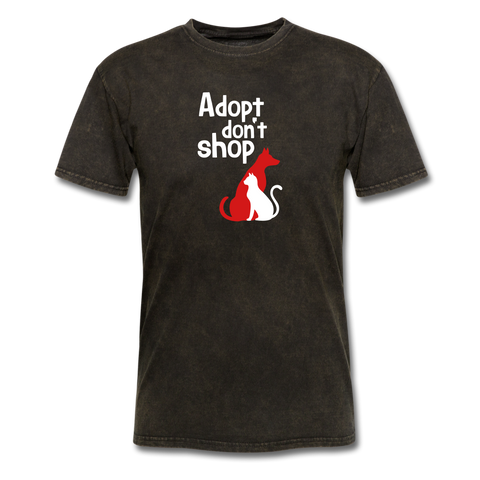 Adopt don't Shop Men's T-Shirt - mineral black