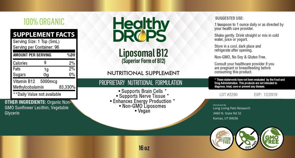 LIPOSOMAL B12 METHYL 5000 MCG | ENERGY SUPPORT PLUS MORE