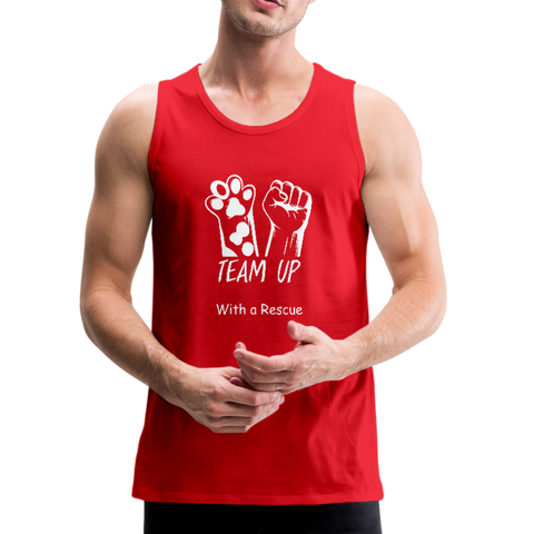 Team Up with a Rescue - Men's Premium Tank - red