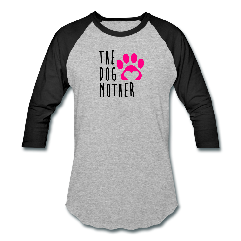 The Dog Mother - Baseball T-Shirt - heather gray/black