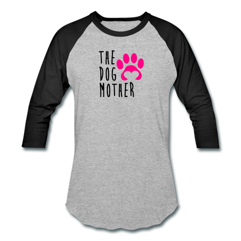Image of The Dog Mother - Baseball T-Shirt - heather gray/black
