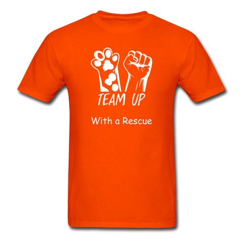 Team Up with a Rescue Men's T-Shirt - orange