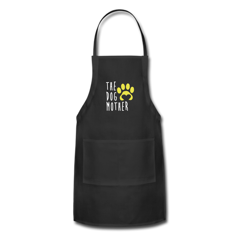 Image of The Dog Mother Apron Adjustable Apron - black