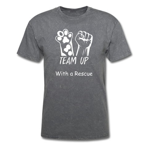 Team Up with a Rescue Men's T-Shirt - mineral charcoal gray
