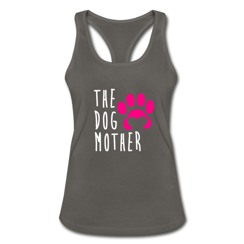 Image of The Dog Mother Women's Racerback Tank Top - charcoal