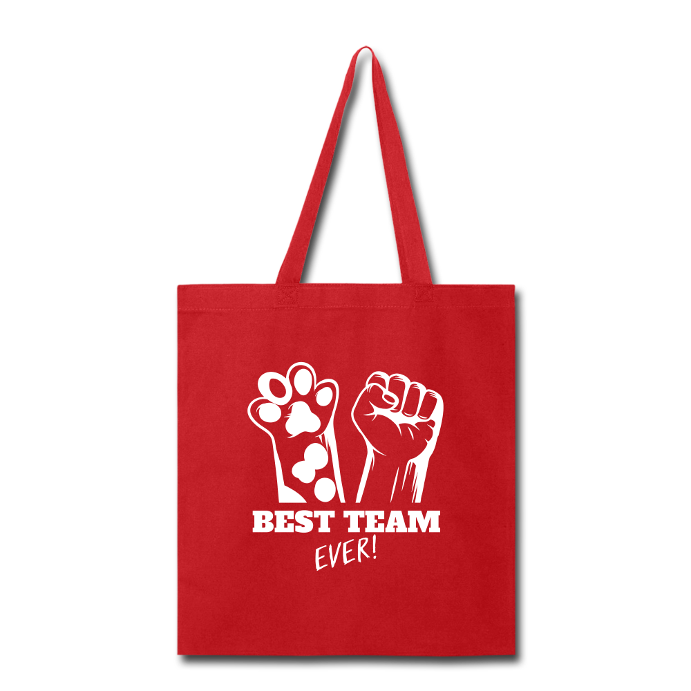 Best Team Ever Tote Bag - red