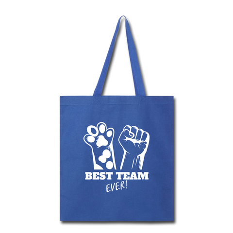 Image of Best Team Ever Tote Bag - royal blue