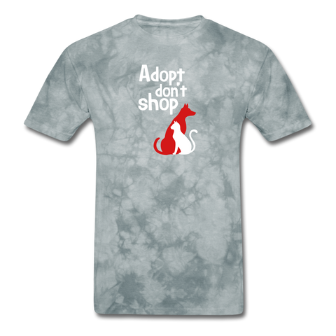 Adopt don't Shop Men's T-Shirt - grey tie dye