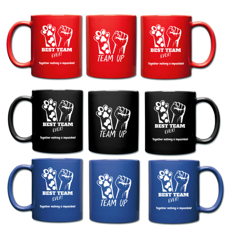 Best Team Ever Full Color Mug Pets and Humans make a Great Team.