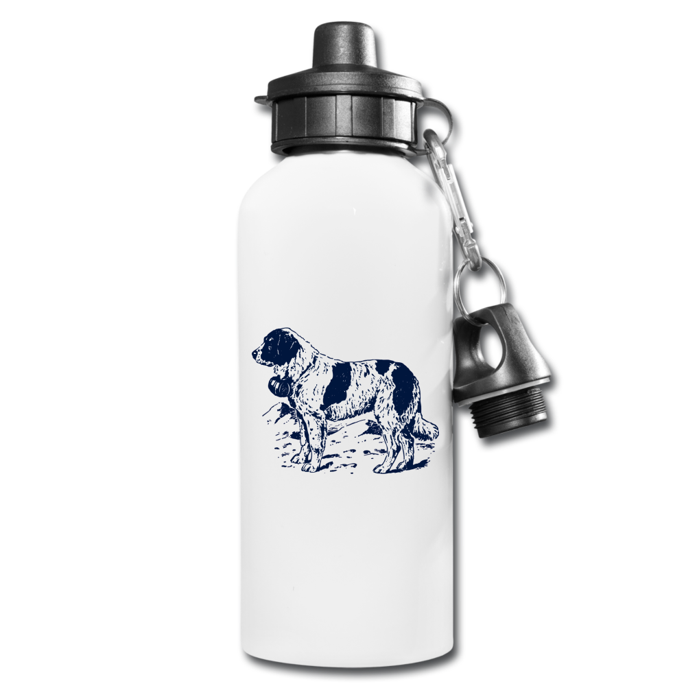 St. Bernard Lovers Water Bottle - white