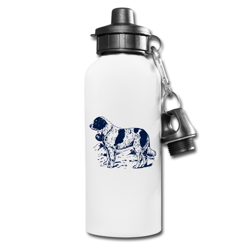 Image of St. Bernard Lovers Water Bottle - white