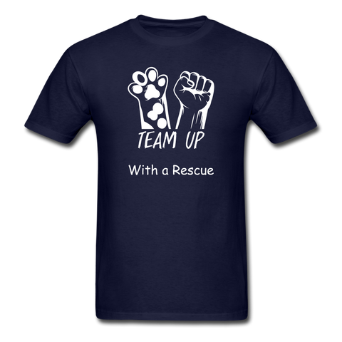 Team Up with a Rescue Men's T-Shirt - navy