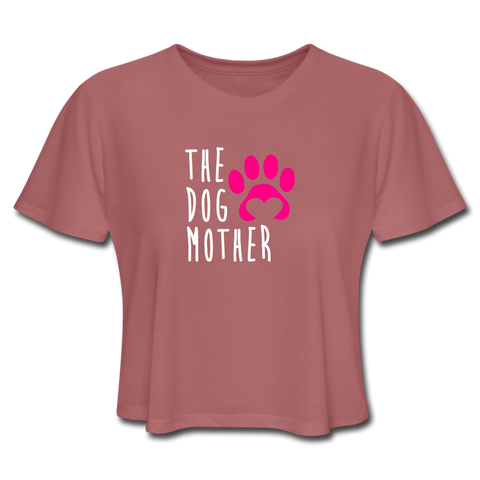 The Dog Mother - Women's Cropped T-Shirt - mauve