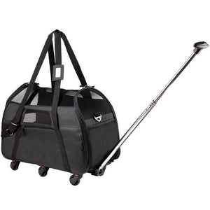 Wheeled Pet Carrier, Black, TSA Airline Approved.