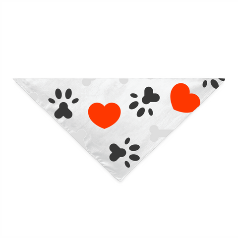 Image of Hearts, Paws and Bones Bandana for Dog Lovers