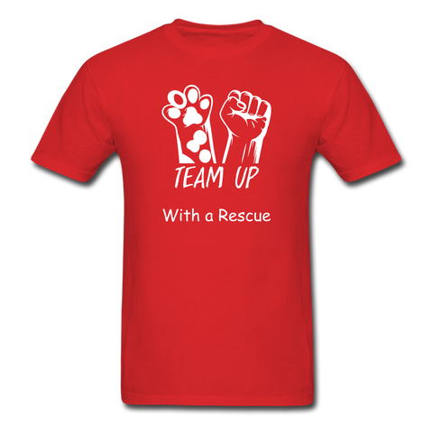 Team Up with a Rescue Men's T-Shirt - red