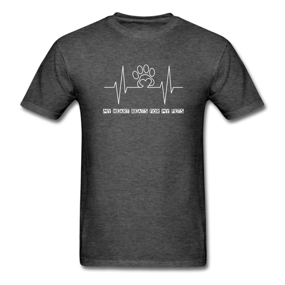 My Heart Beats for my Pets Men's T-Shirt - heather black