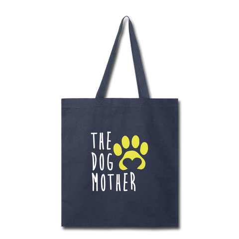 The Dog Mother Tote Bag - navy