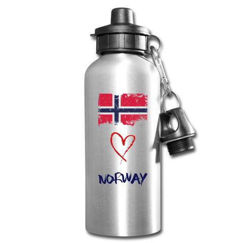 Love Norway Water Bottle - silver