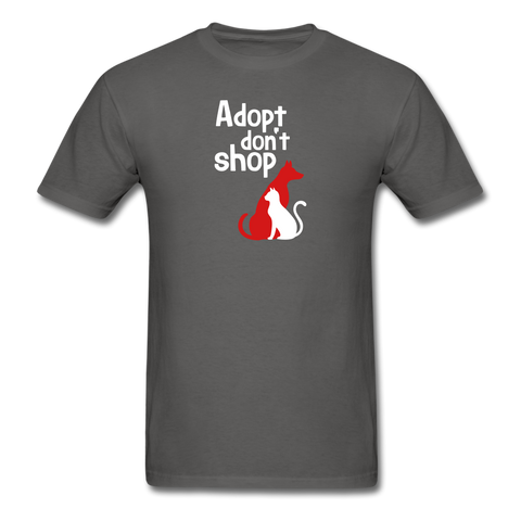 Adopt don't Shop Men's T-Shirt - charcoal