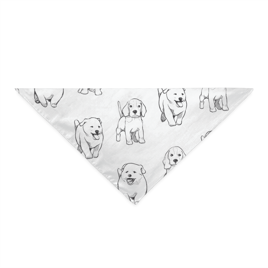 Bandana with puppies