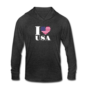 I love USA Tri-Blend Hoodie Shirt