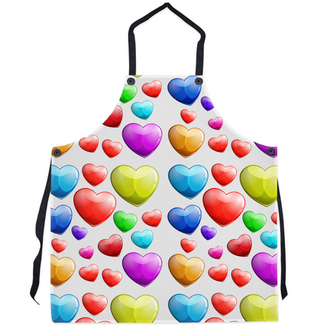 Colorful Hearts Aprons