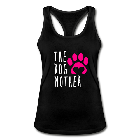 The Dog Mother Women's Racerback Tank Top - black