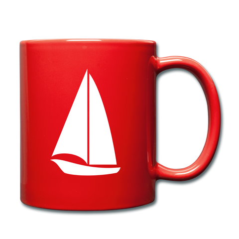 Image of I'll Rather be Sailing Mug - red