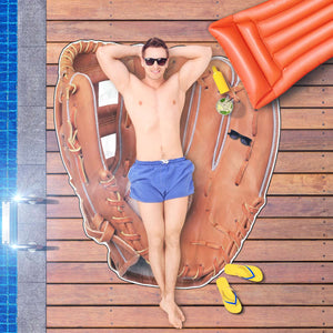 Baseball Glove Beach Towel