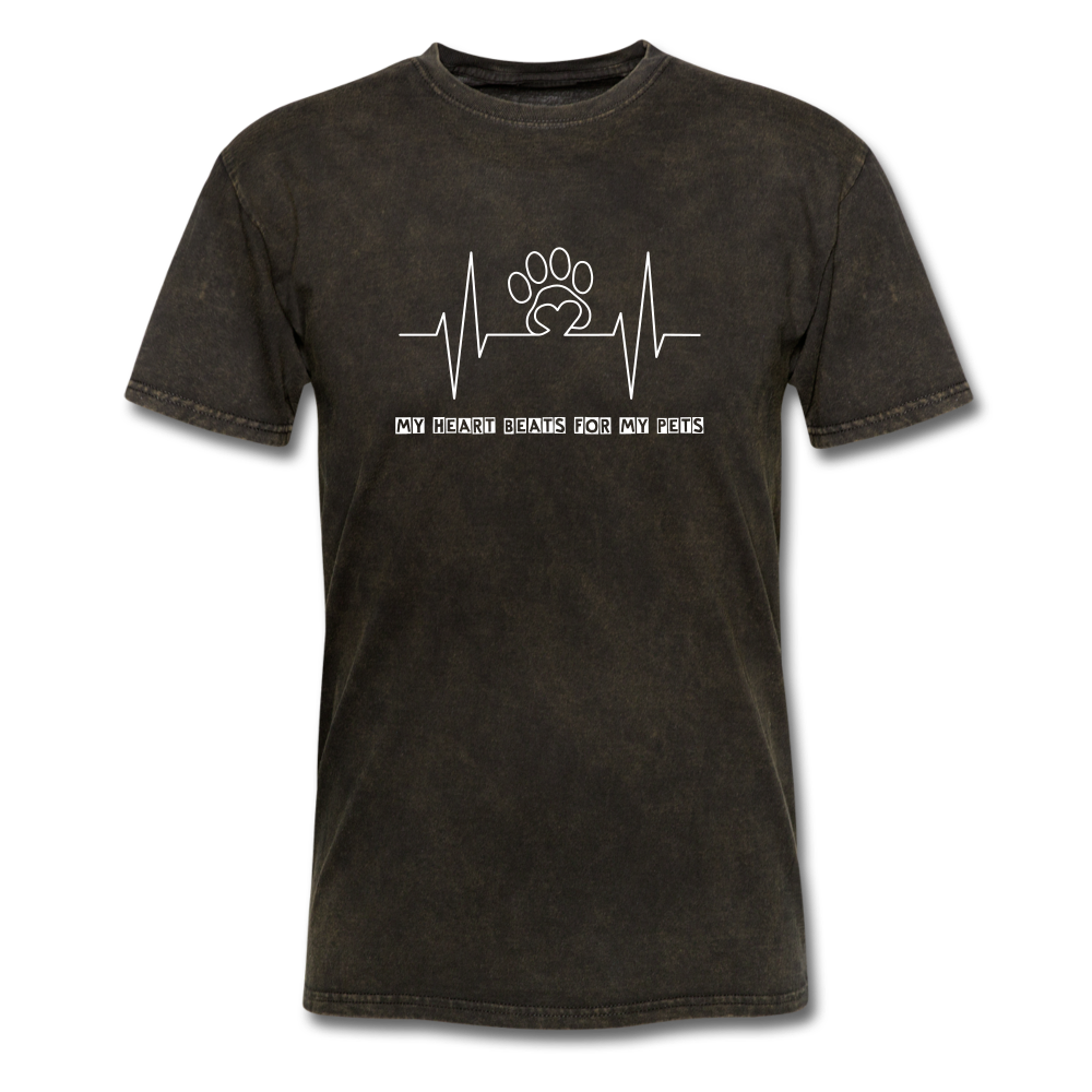 My Heart Beats for my Pets Men's T-Shirt - mineral black