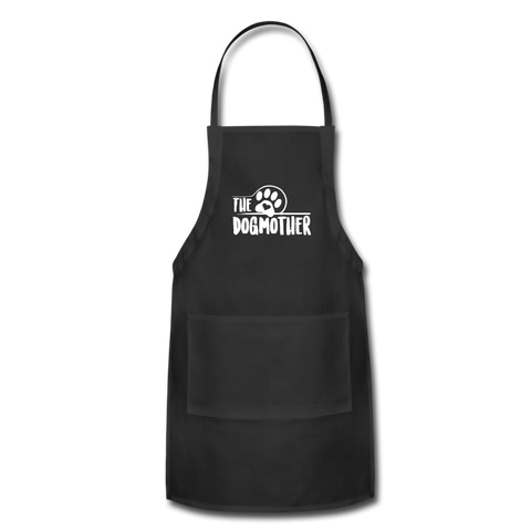The Dog Mother Apron Adjustable Apron - black