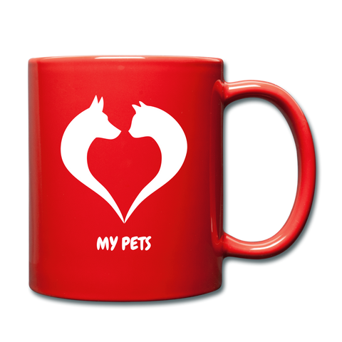 Image of Love My Pets Full Color Mug - red