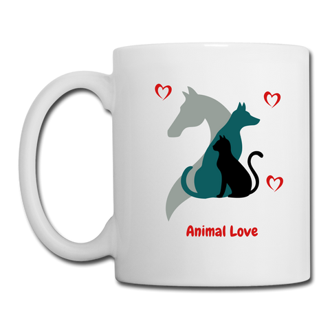 Image of Animal Lover Mug -Coffee/Tea Mug - white