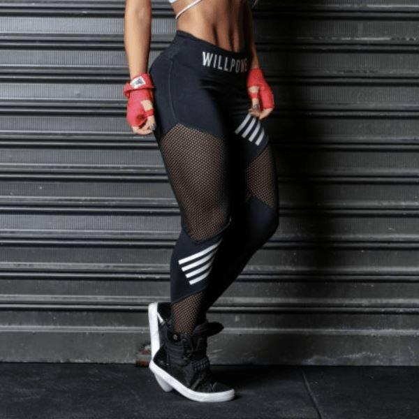 MeshFlex Workout Leggings - High Stretch Interlocking Fabric