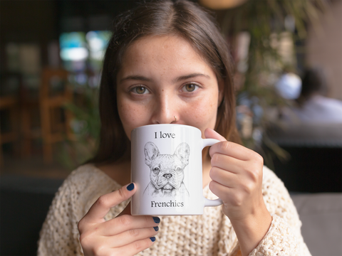 Image of I love Frenchies 15 oz. White Mug