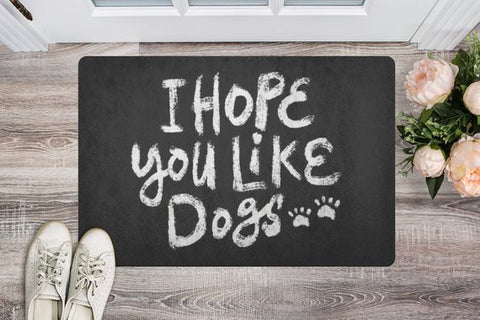 Image of Dog Lover Gift Doormat Door mat Welcome Mat