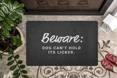 Welcome Door Mat Housewarming Gift for Dog Lovers