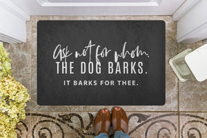 Welcome Door Mat for Dog Lovers a Nice Housewarming Gift