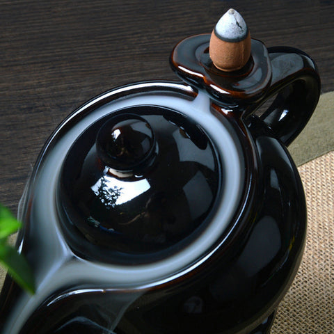 Image of Teapot Ceramic Smoke Backflow Incense