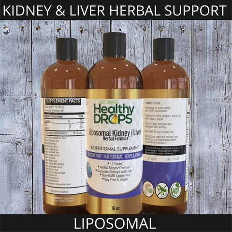 Image of LIPOSOMAL KIDNEY AND LIVER HERBAL SUPPORT | 17 HERB FORMULA