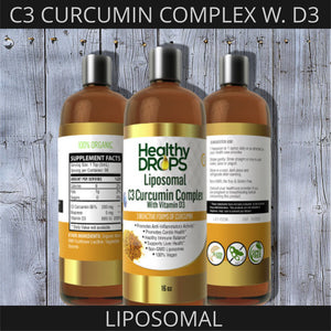 LIPOSOMAL C3 CURCUMIN COMPLEX | WITH BIOPRENE AND D3