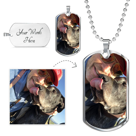 Put your pet's image in this beautiful military chain