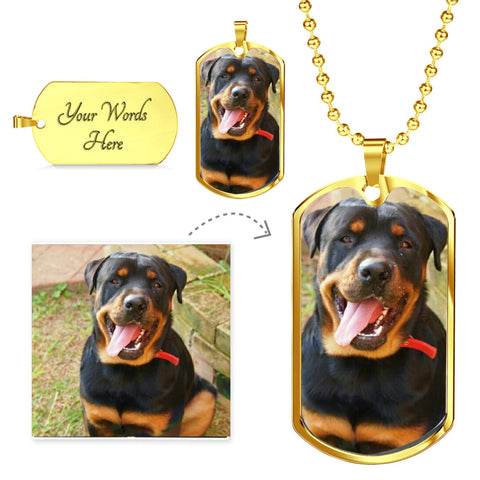 Image of Put your pet's image in this beautiful military chain