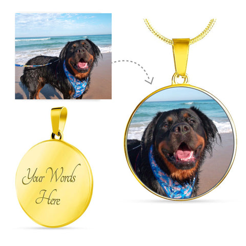 Add your favorite pet image to this beautiful necklace