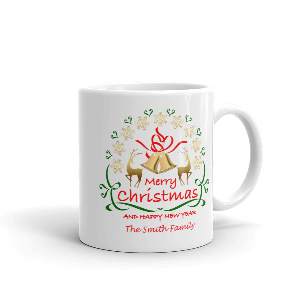 Merry Christmas and Happy New Year Mug - Personalize It!